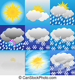 Weather-Meteorology-Icon-Sun-Rain-Snow-Illustration