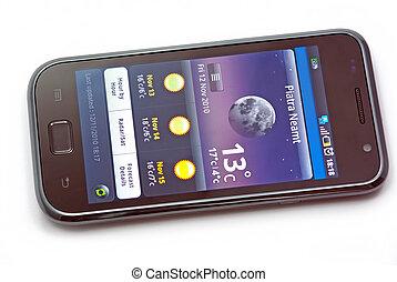 Weather on mobile phone - Piatra Neamt, Romania - November...