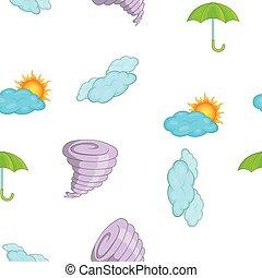 Weather pattern, cartoon style