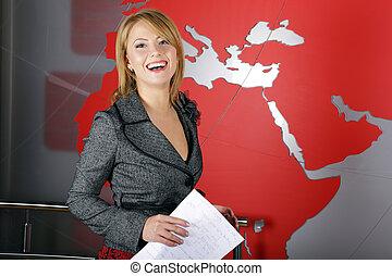 Weather presenter woman