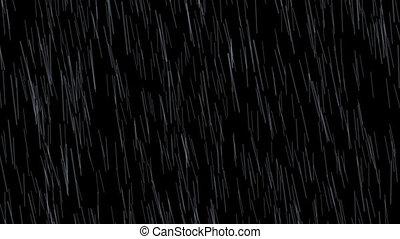 Weather Rain Fall-01 24fps