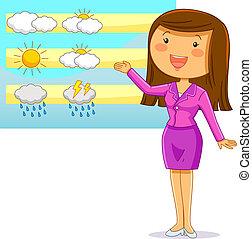 weather reporter - happy cartoon weather reporter
