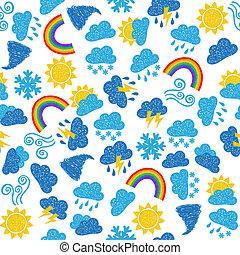 Weather seamless pattern