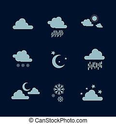 Weather set icon illustration vector