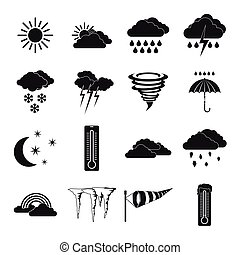 Weather set icons, simple style