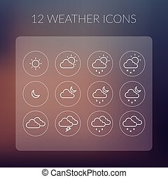 Weather Simple Icons Set