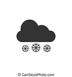 Weather snow icon. Vector illustration, flat design.