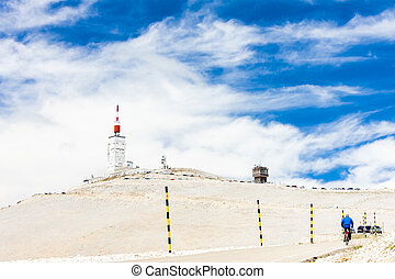 weather station on summit of Mont Ventoux, Provence, France