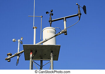 Weather Station - Close-up of a weather station from below.