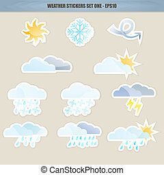 Weather Stickers - Set One