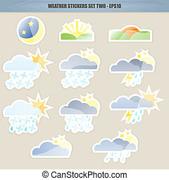 Weather Stickers - Set Two