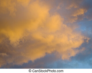 weather Stormy sky at sunset