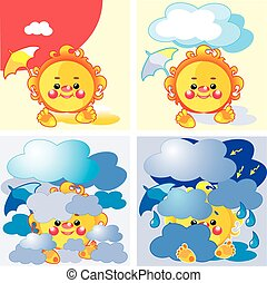 weather summer set, vector