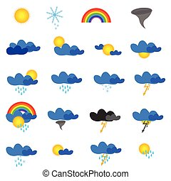 weather symbol vector illustration