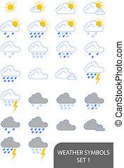 Weather Symbols - Set of weather symbols. Available in jpeg...