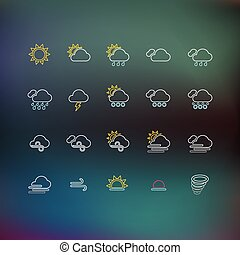 Weather Thin Line Icons