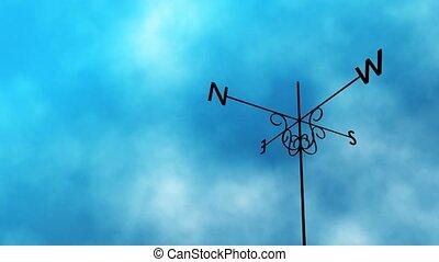 Weather Vane Change HD Loop - High definition animated loop...