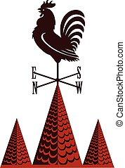 Weather vane rooster