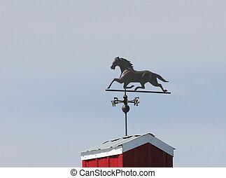 Weather vane - wrought iron wind vane on top or barn
