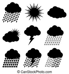 Weather vector Icons Set