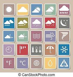 weather vector Sticker set