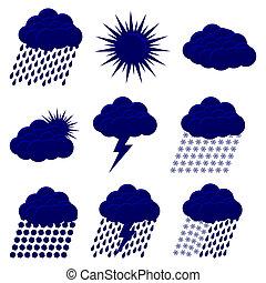 Weather Web vector Icons Set
