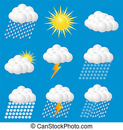 Weather Web vector Icons Set