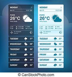 Set of weather widgets templates