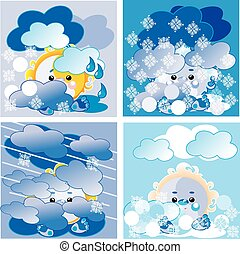 weather winter set, vector