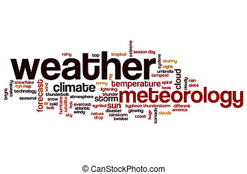 Weather word cloud concept