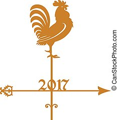 Weathercock - Year of Rooster 2017, golden weathercock