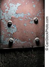 weathered, металл, задний план, текстура