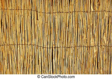 Weathered Bamboo Mat Horizontal Background Texture