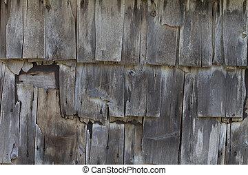 Weathered Barn Board Wall Shingles