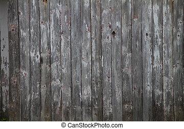 Weathered Barn Board Wall