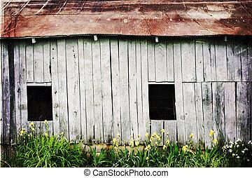 weathered barn - Photo based illustration of a weathered...