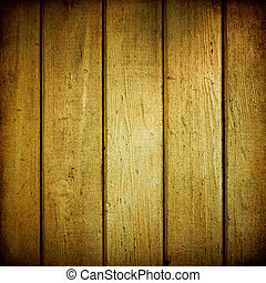 weathered., bois, planches, jaune, texture