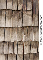 Weathered cedar shingles for background