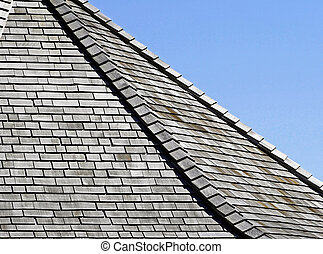 Weathered Cedar shingles on roof