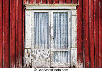 Weathered door of an old Swedish farmhouse