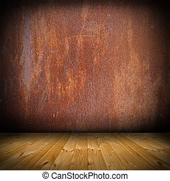 weathered empty interior  design