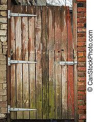 Weathered garden gate