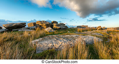 Alex Tor on Bodmin Moor - Weathered granite rock formations ...