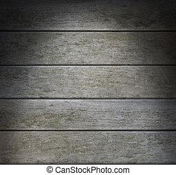 Weathered Gray Horizontal Wood Lit Dramatically