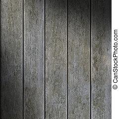 Weathered Gray Vertical Wood Lit Diagonally