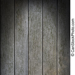 Weathered Gray Vertical Wood Lit Dramatically
