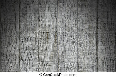 Weathered gray wooden barn siding lit from above - Weathered...