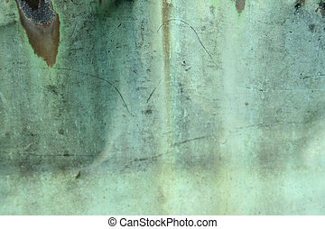 Weathered green copper background