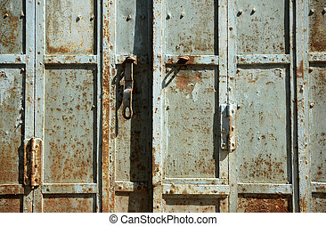 Weathered Metal Door