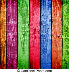 Weathered multicolor wooden planks. Abstract backdrop for ...